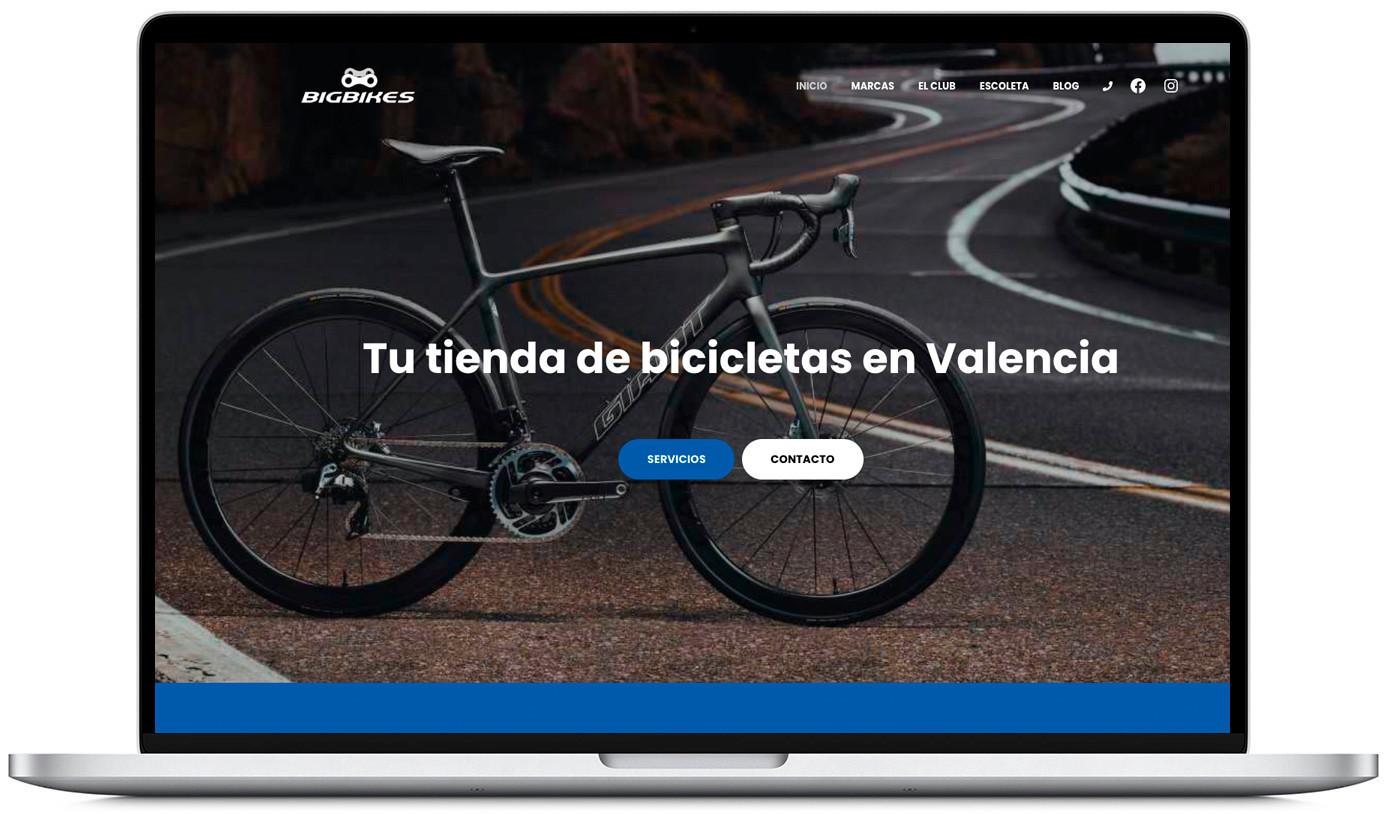 Diseño web para tienda de bicicletas BigBikes Carlet