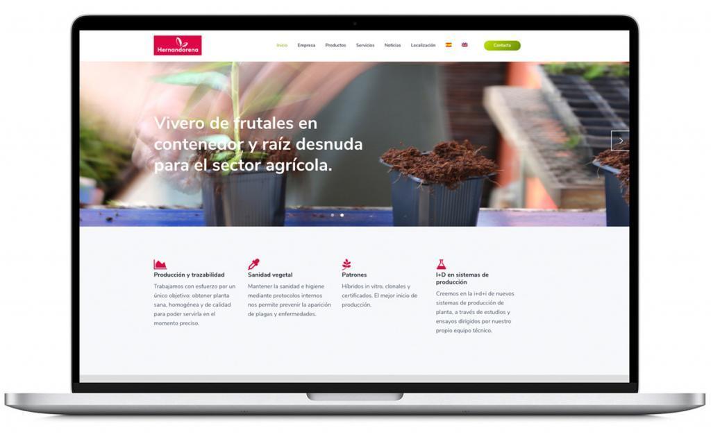Diseño y personalización web de Hernandorena (vivero de frutales)