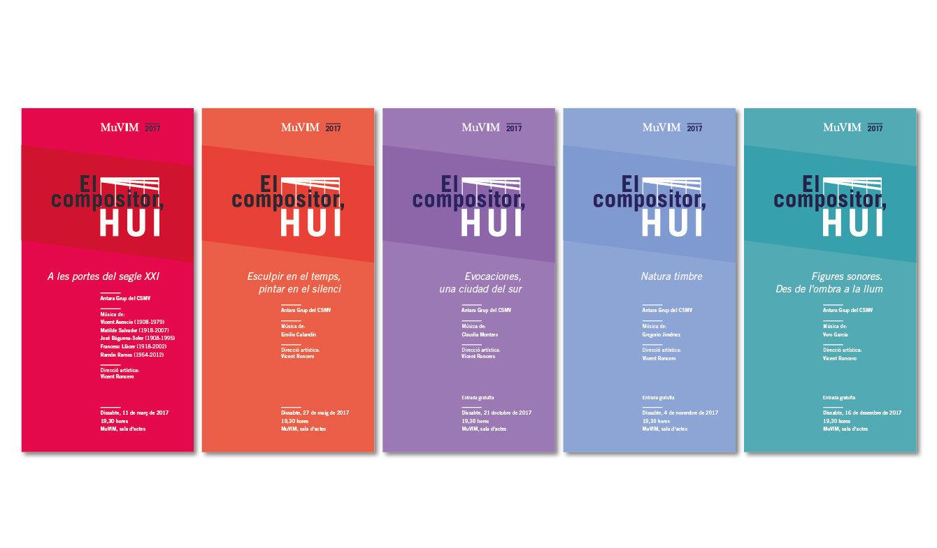 Diseño cartel y folleto para actividades culturales